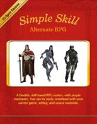 Simple Skill Alternate RPG - optional color cover