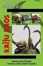 Kaiju Kaos - Mercenary Stat Sheets, Vol. 01
