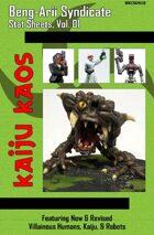 Kaiju Kaos - Beng-Arii Syndicate Stat Sheets, Vol. 01