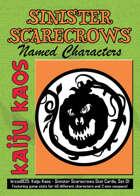 Kaiju Kaos - Sinister Scarecrows Stat Cards, Set 01