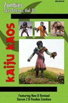 Kaiju Kaos - Zombies Stat Sheets, Vol. 01