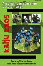 Kaiju Kaos - Anconian Confederation Stat Sheets, Vol. 01