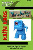 Kaiju Kaos - Yuudoku's Stat Sheet