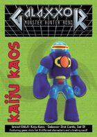 Kaiju Kaos: Galaxxor Stat Cards, Set 01