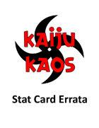 Kaiju Kaos - STAT CARD ERRATA