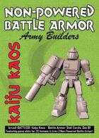 Kaiju Kaos: Non-Powered Battle Armor Stat Cards, Set 01
