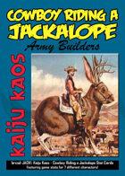Kaiju Kaos: Cowboy Riding a Jackalope Stat Cards