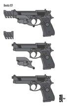 Stock Art: Beretta 92F