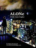 ALONe: A Solo Game Engine BETA