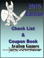 Avalon Check List and Coupon Book