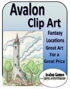 Avalon Clip Art, Fantasy Locations