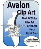 Avalon Clip Art, B&W Filler