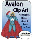 Avalon Clip Art Sets, Comic Book Heroes