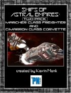ASTRAL EMPIRES, Ship Guide Book (Marcher and Cimmaron)
