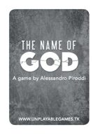 The Name of God [ENG Poker Size]