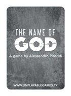 The Name of God [FRA Poker Size]