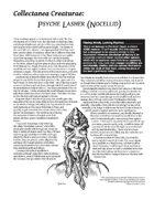 Collectanea Creaturae: Psyche Lasher