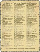 100 Items to Find in an Occultist's Chambers
