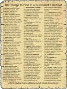 100 Things to Find in a Survivalist's Retreat