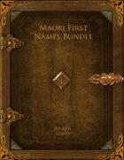 Maori First Names Bundle [BUNDLE]