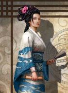 Thunderegg Stock Art: Beautiful Samurai Courtier