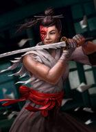 Thunderegg Stock Art: Masked Female Samura