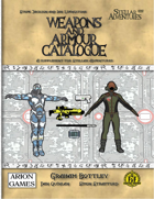 Stellar Adventures Weapons and Armour Catalogue