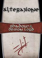 Shadow of the Demon Lord: Carte Magia ALTERAZIONE