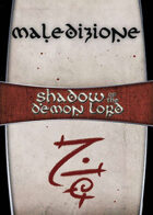 Shadow of the Demon Lord: Carte Magia MALEDIZIONE