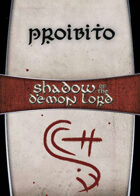 Shadow of the Demon Lord: Carte Magia PROIBITO