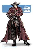 Character Cache - Katame Cybernetic Samurai Gunslinger