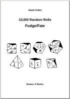 10,000 Random Rolls - Fudge/Fate dice