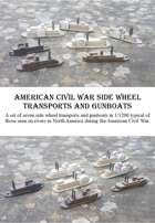 American Civil War Side Wheelers 1/1200