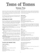 Tome of Tomes - Volume Two