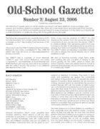 Old-School Gazette #2