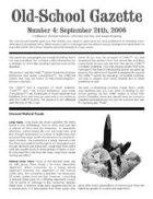 Old-School Gazette #4