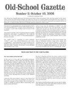 Old-School Gazette #5