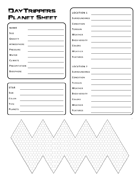 DayTrippers Planet Sheet