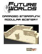 Future Worlds:  Damaged Steampunk Modular Scenery Set