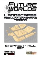 """Future Worlds Landscapes:  Stepped 1"""" Hill Set"""