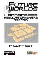 """Future Worlds Landscapes:  1"""" Cliff Set"""