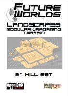 """Future Worlds Landscapes:  2"""" Cliff Set"""