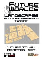 """Future Worlds Landscapes:  1"""" Cliff to Hill Adaptor Set"""