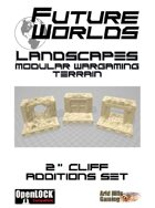 """Future Worlds Landscapes:  2""""Cliff Additions"""