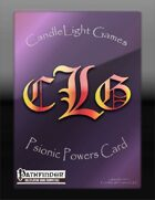 Blank Psionic Power Cards