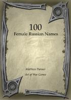 100 Russian Female Names