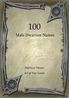 100 Male Dwarven Names