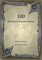 100 Female Dwarven Names