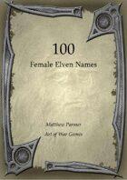 100 Female Elven Names
