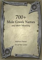 700+  Male Greek Names and Their Meaning